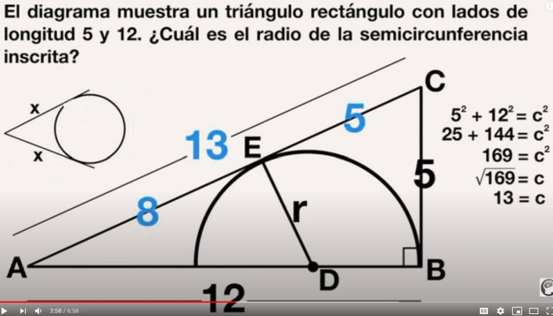 Use Pythagoras to find the hypotenuse