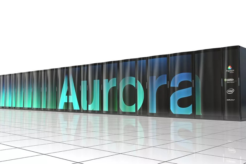 Showing Cray Supercomputer Aurora