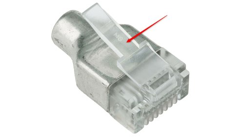The broken plastic piece holding the connector in place.