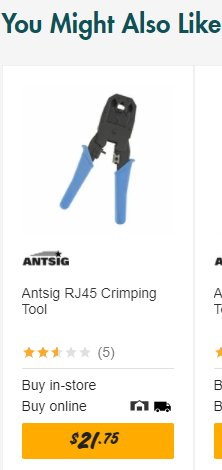 The RJ45 Crimping Tool.