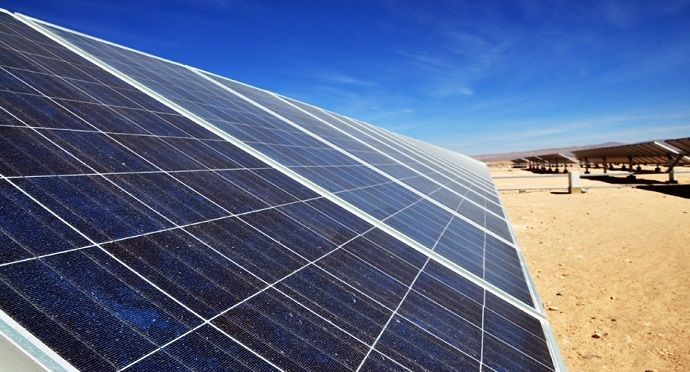 Photovoltaic cells in Google's Chile data centre