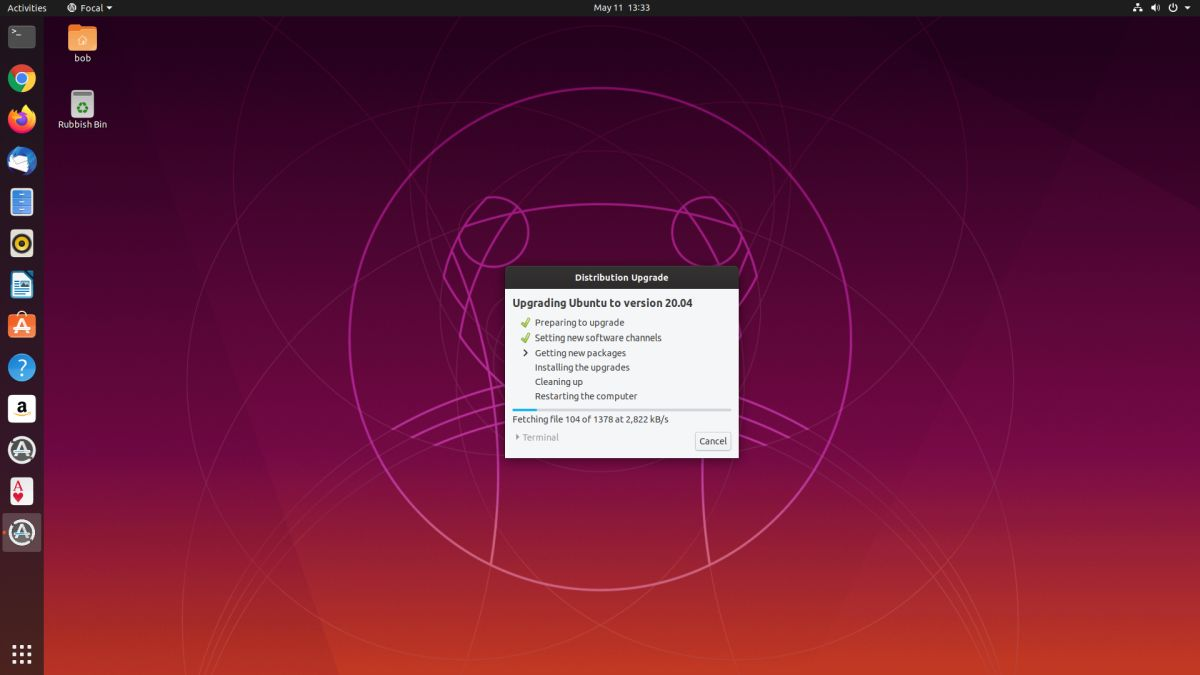 Just one hour to upgrade Ubuntu versions