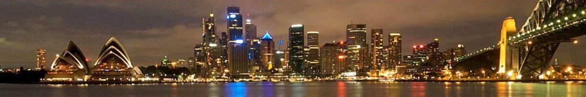 Panorama across harbour of Sydney CBD