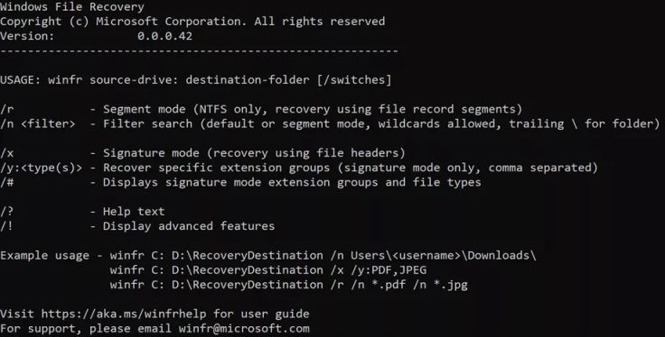 New Microsoft File Recovery Tool